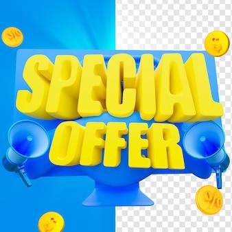 Oferta especial e design de etiquetas de preço