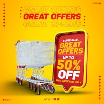 Oferta especial na venda final da caixa de texto 3d vermelha com até 50% de desconto