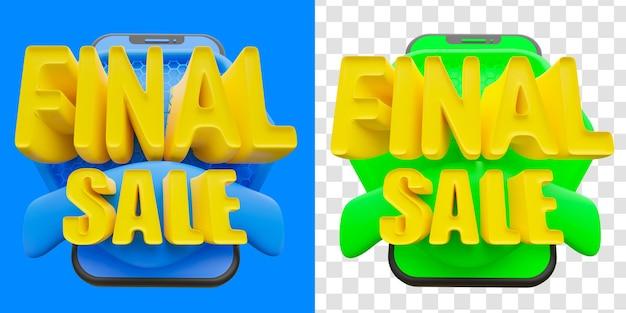 Oferta especial venda final 3d isolada