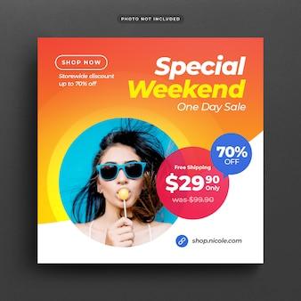 Oferta especial venda post banner ou modelo