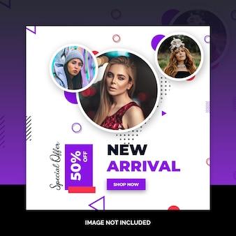 Oferta especial venda web mídia social banner