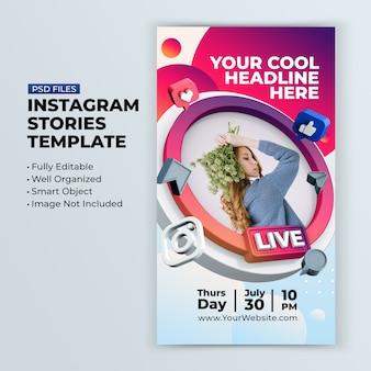 Oficina de streaming ao vivo no instagram postar modelo de postagem em mídia social