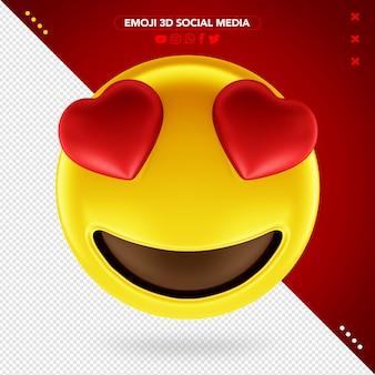 Olhos de emoji 3d amorosos para maquiagem