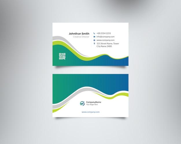 Ondas coloridas cartão de visita tempalte design