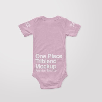 One piece triblend back mockup