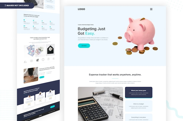 Orçamento ficou fácil design da página do site