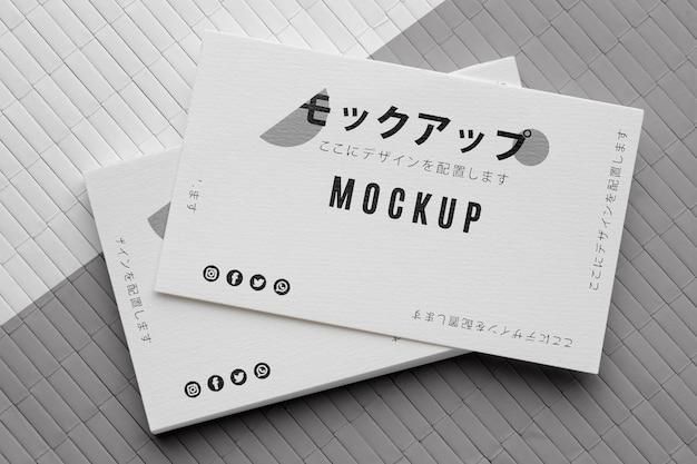 Organização do cartão de visita de negócios