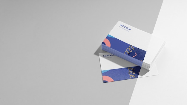 Organização do cartão de visita padrão