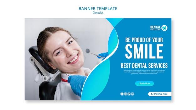 Orgulhe-se do seu modelo de banner de sorriso