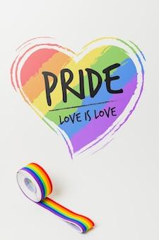 Orgulho gay maquete fita washi