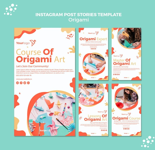 Origami instagram post