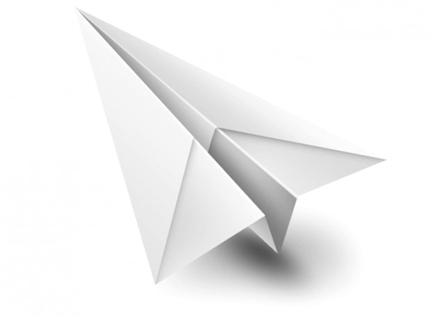 Origami paperplane branco brinquedo psd