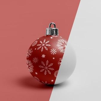 Ornamento de globo de natal com flocos de neve