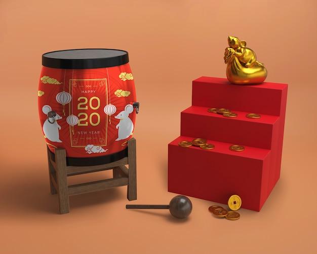 Ornamentos asiáticos para o ano novo