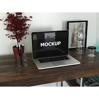 Os designers gráficos espaço de trabalho com laptop
