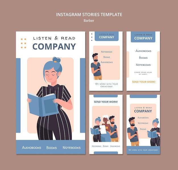 Ouça e leia histórias corporativas no instagram