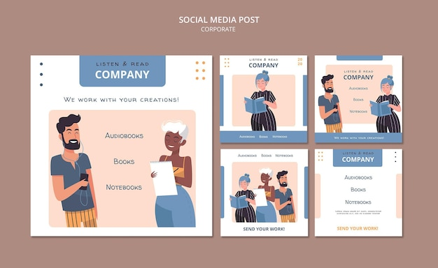 Ouça e leia postagens de mídia social corporativa