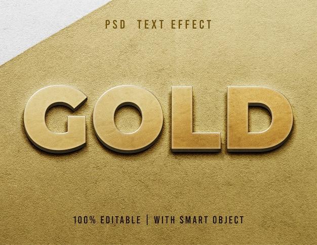 Ouro editável do efeito de texto 3d