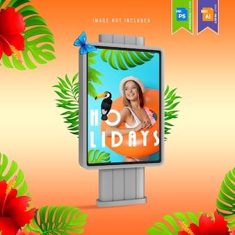 Outdoor de publicidade de maquete de mídia digital