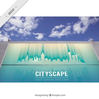 Outdoot moderna maquete billboard