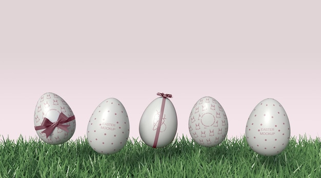 Ovos de páscoa maquete