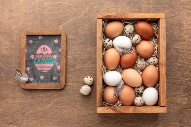 Ovos e quadro de mock-up