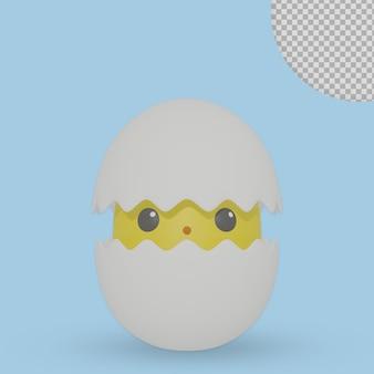 Ovos incubados em 3d