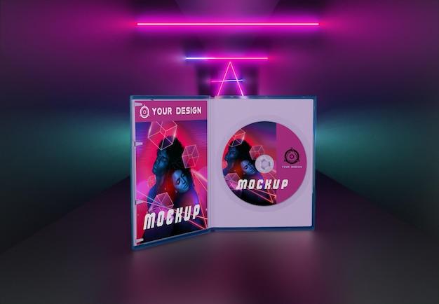 Pacote abstrato de jogos e maquete de cd