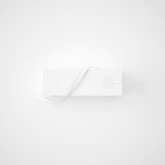 Pacote branco com fita