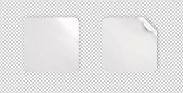 Pacote de adesivos retangulares isolados
