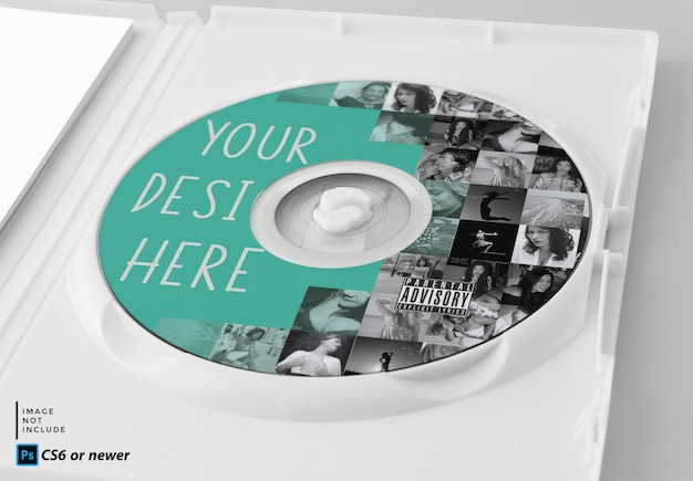Pacote de cd mock up