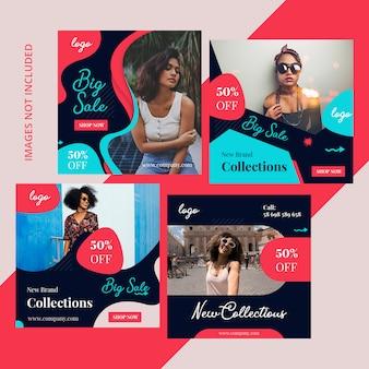 Pacote de compras de marketing de mídia social
