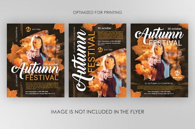 Pacote de folhetos do festival de outono