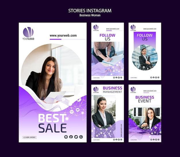 Pacote de histórias do instagram de negócios