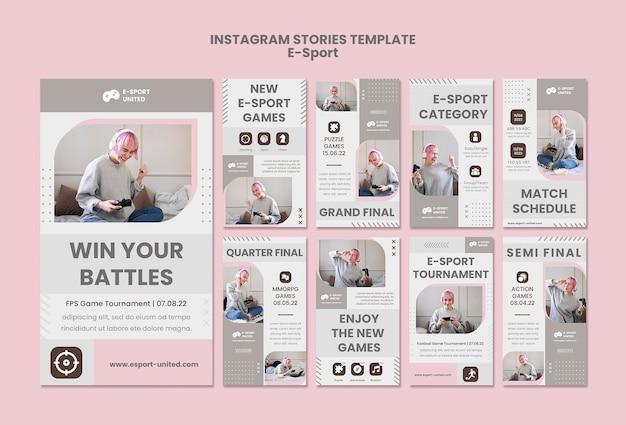 Pacote de histórias instagram de e-sports