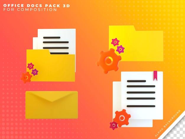 Pacote de ícones de documentos de escritório 3
