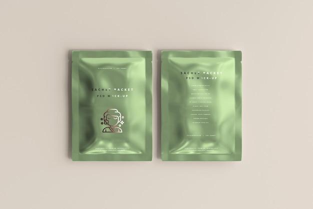 Pacote de maquete de folha de alumínio