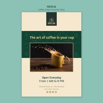 Pacote de modelo de cartaz de café