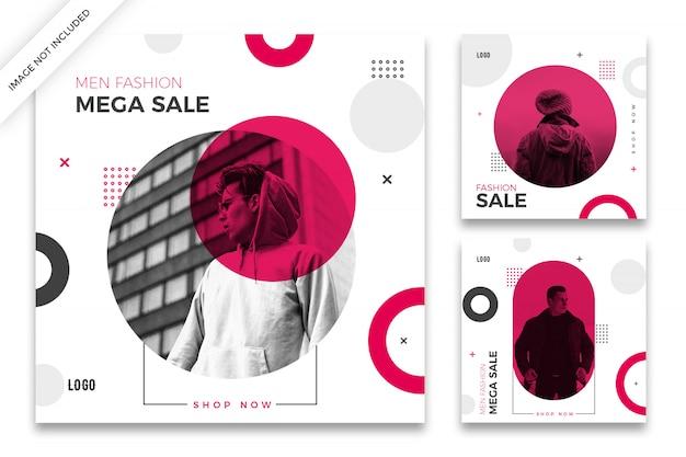 Pacote de modelo de postagem do instagram de venda de moda