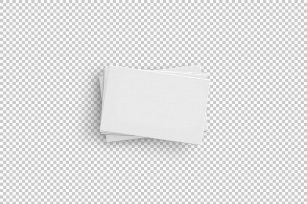 Pacote isolado de cartões de visita