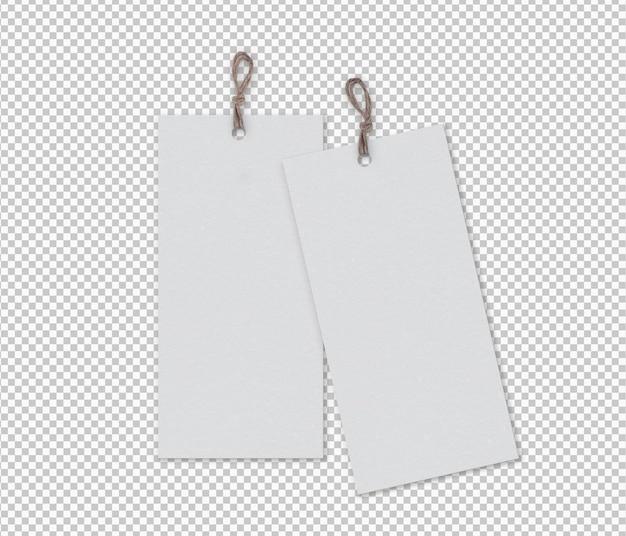 Pacote isolado de etiquetas com faixa