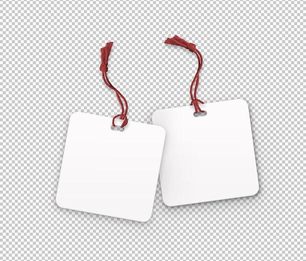 Pacote isolado de etiquetas de faixa vermelha