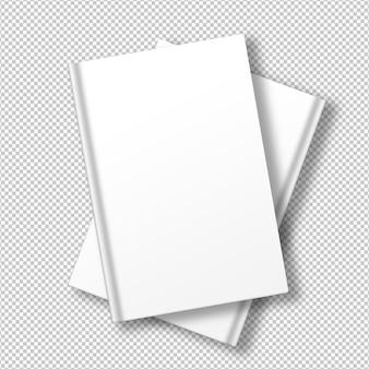 Pacote isolado de livros brancos Psd grátis