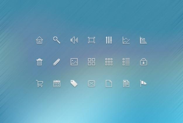 Pacote pequeno ícone com limpa pixels