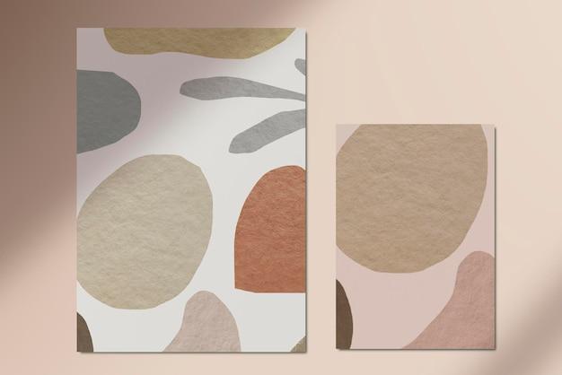 Padrão de tom de terra abstrato de papel plano Psd grátis
