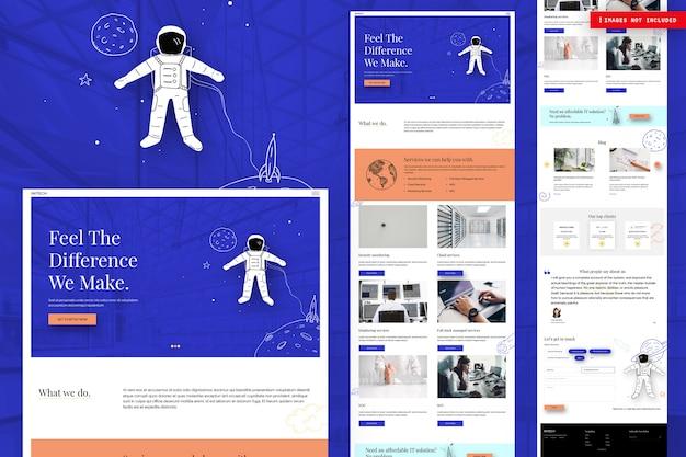 Página da web de gerenciamento de projetos