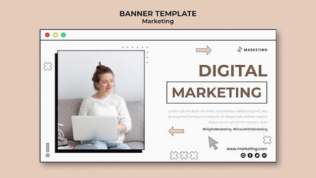 Página de banner de marketing digital