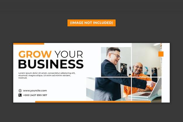Página de capa do facebook de negócios psd