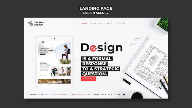 Página de destino da agência de design
