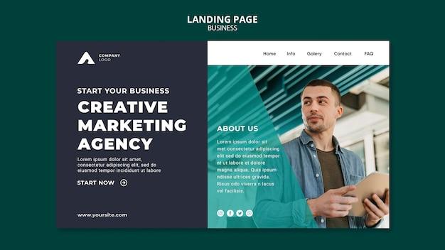 Página de destino da agência de marketing